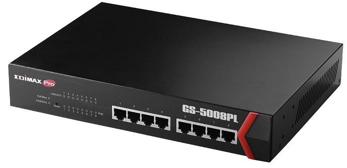 Edimax GS-5008PL unboxing switch gestionable