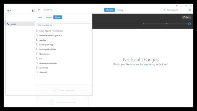 Elegir repositorio que queremos clonar de GitHub