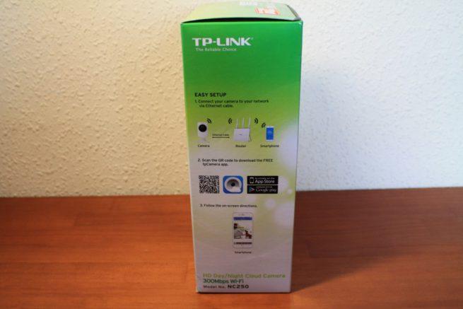 Lateral de la caja de la TP-Link NC250