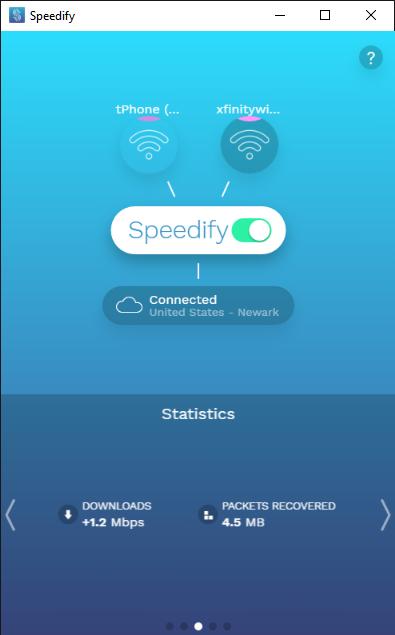 Speedify 4.0 - Dos Wi-Fi