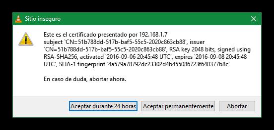 VLC conectar a Chromecast inseguro