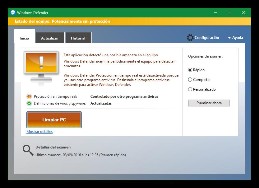 Cómo eliminar el malware detectado por Windows Defender