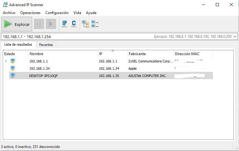 Advanced IP Scanner te ayuda a localizar intrusos en tu Wi-Fi