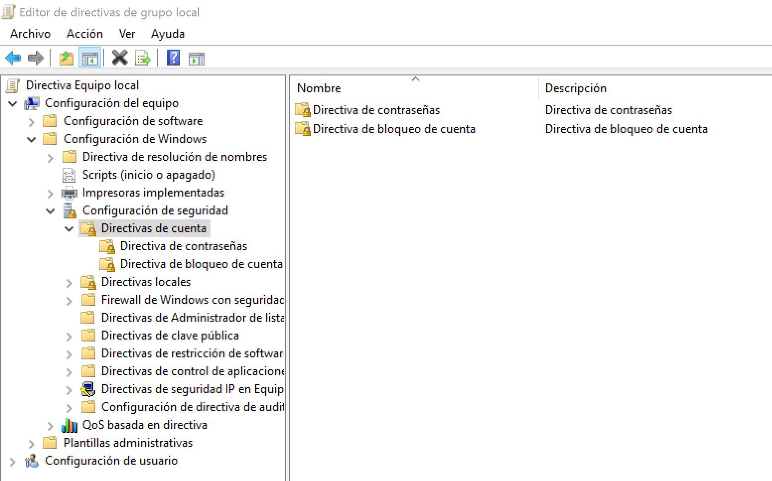 Configura la directiva de contraseñas de usuario en Windows 10 para ...
