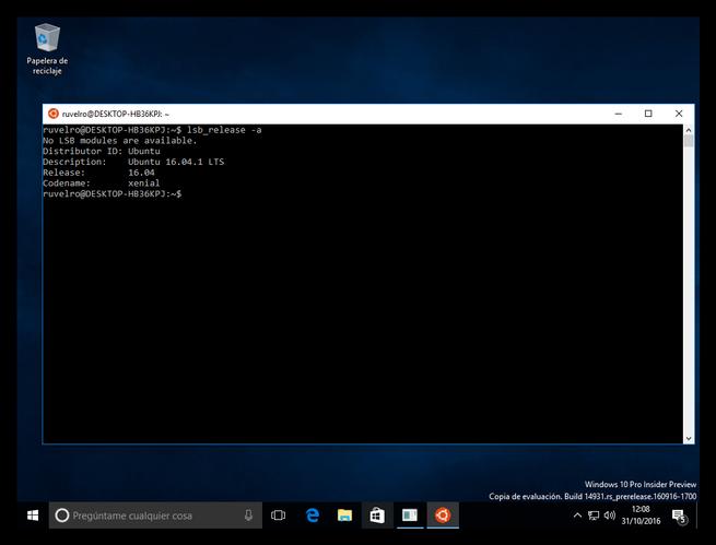 Bash Windows 10 Ubuntu 16.04