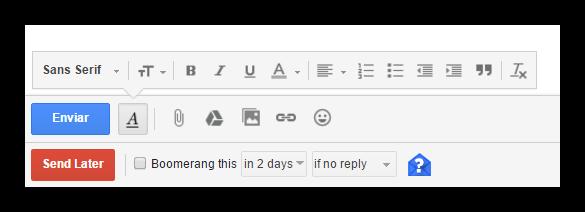 Programar el envío de correos con Boomerang for Gmail
