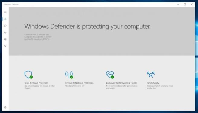 Windows Defender - Windows 10 Creators Update