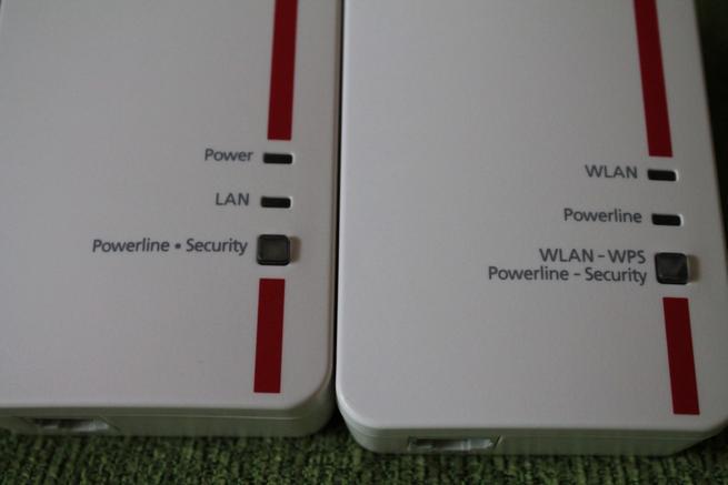 Imagen de los LED de los PLC del pack FRITZ!Powerline 1240E Set