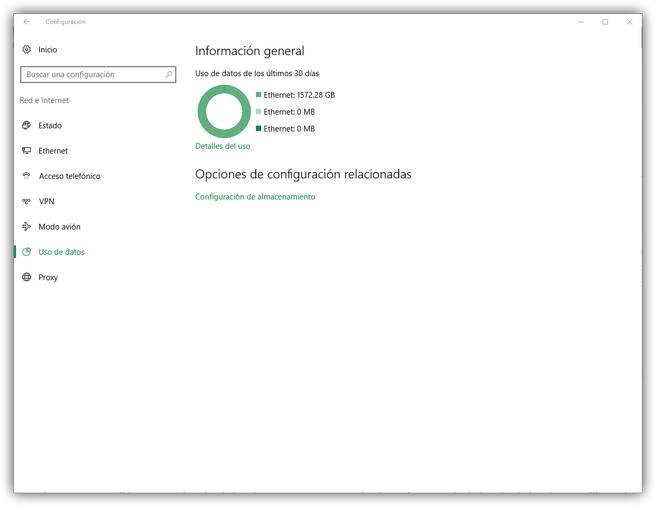 Uso de datos de Windows 10