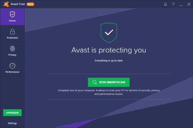 avast nueva interfaz antivirus