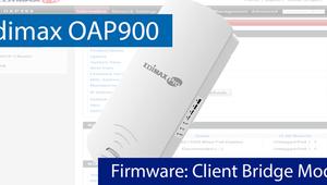 Aprende cómo configurar el Edimax OAP900 en modo de configuración Client Bridge Mode