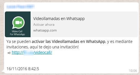 estafa activar videollamadas WhatsApp