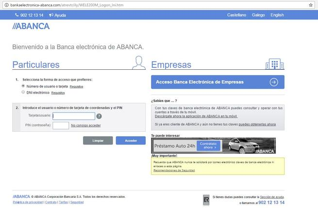 phishing abanca