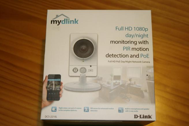 Frontal de la caja de la cámara IP D-Link DCS-2210L