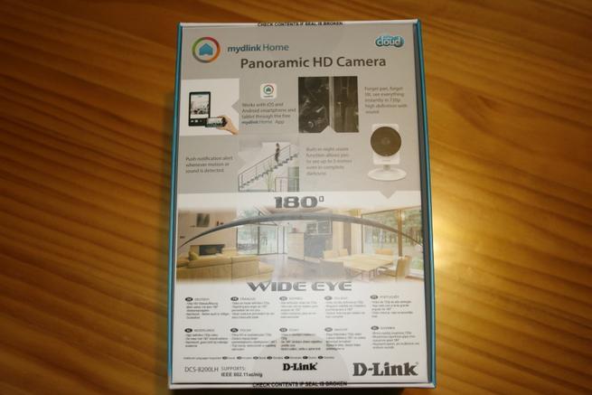 Trasera de la caja de la cámara IP D-Link DCS-8200LH