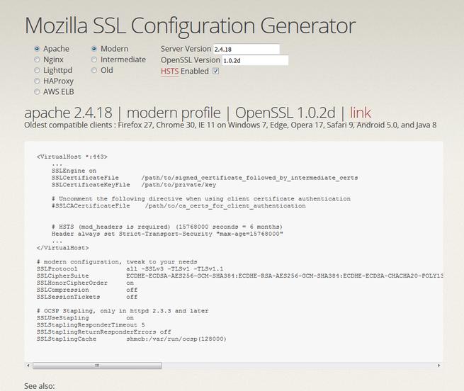 mozilla-ssl-configuration-generator