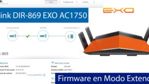Conoce el firmware del router D-Link DIR-869 EXO (Modo Extender)