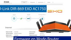 Conoce el firmware del router D-Link DIR-869 EXO (Modo Router)
