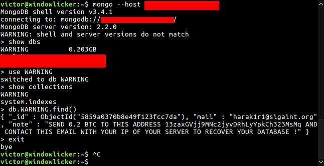 hacker cifra bases de datos mongodb