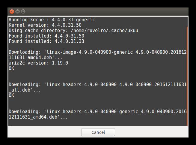 Instalando nuevo Kernel con Ukuu
