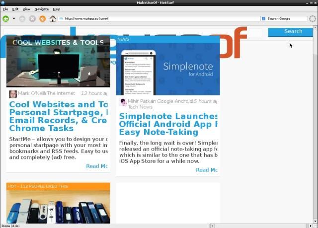 netsurf navegador web raspbian