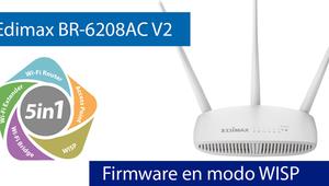 Conoce el firmware del Edimax BR-6208AC V2 en Modo WISP