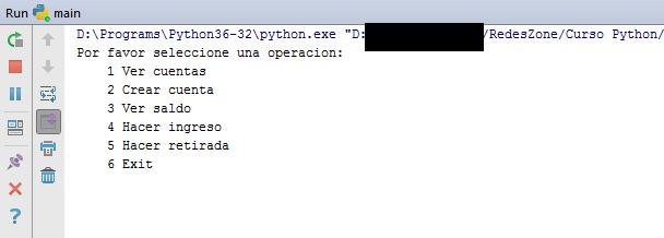 Ejecucion del ejemplo Python en PyCharm