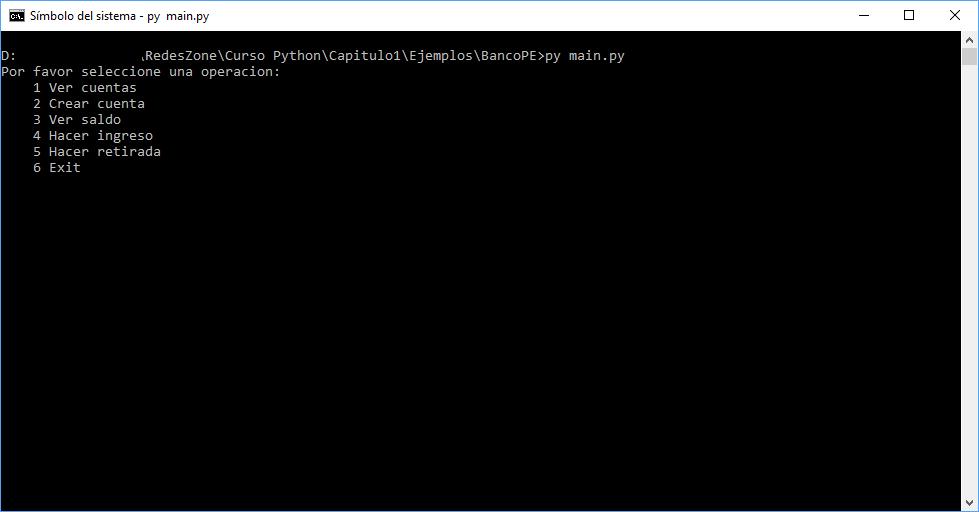 Ejecución del ejemplo Python en Consola