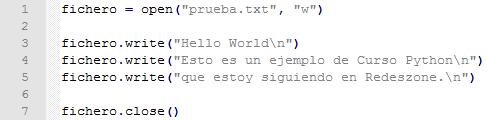 Primer ejemplo de ficheros python