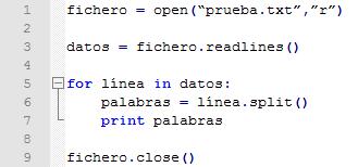 Tercer ejemplo de ficheros python