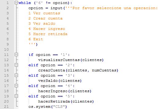 Ejemplo de bucle While en Python