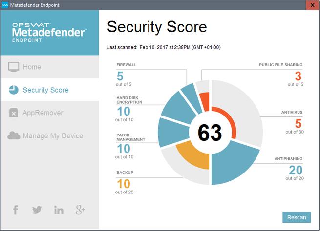 Metadefender Endpoint comprueba la seguridad de tu equipo Windows