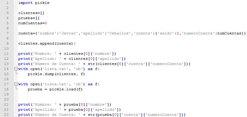 Ejemplo de como se graba y se leen listas de un fichero python