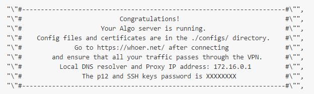 VPN Algo