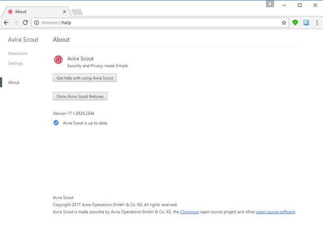 Avira Scout nuevo navegador basado en Chrome