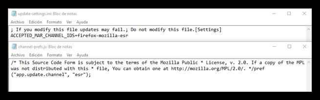 Cambiar actualizaciones Firefox ESR