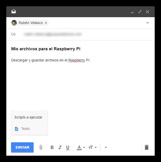 Enviar correo Raspberry Pi