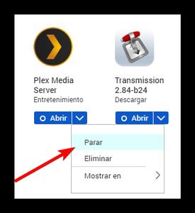 QNAP Detener Plex