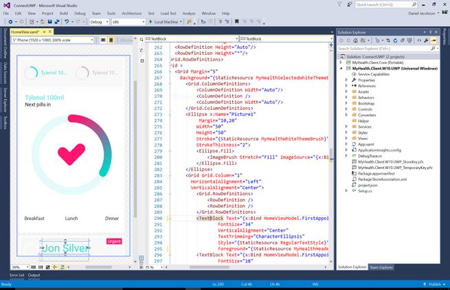 Visual Studio Ionic Designer View