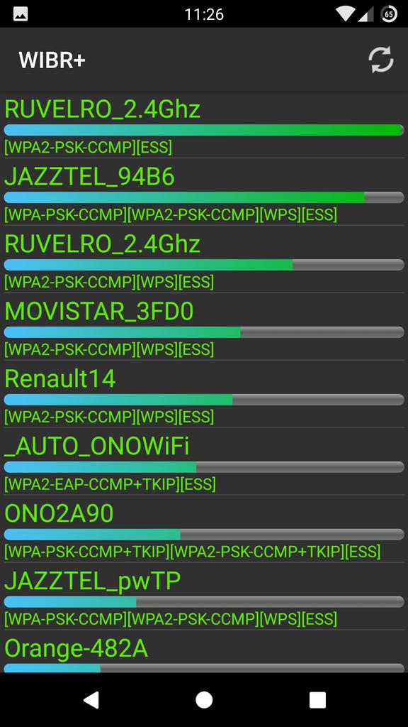 WIBR+ - Hackear redes Wi-Fi - Lista de redes