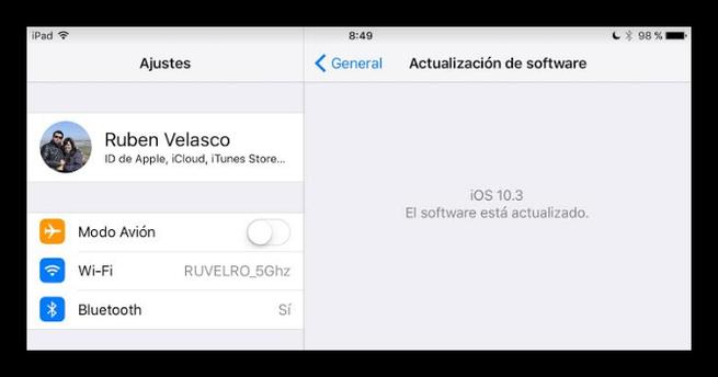 iOS 10.3 iPad