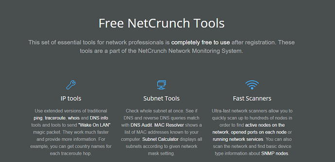 netcrunch localiza problemas de red