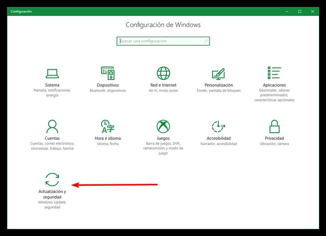 Configuracion Windows 10 Creators Update