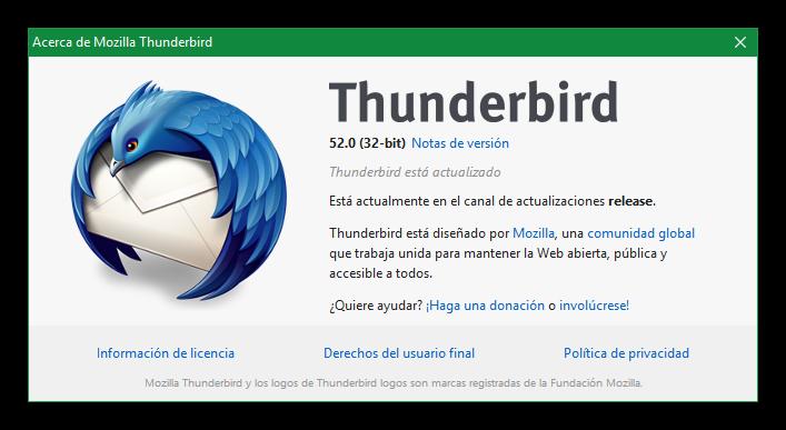 Thunderbird 52, el nuevo cliente de correo de Mozilla, ya está