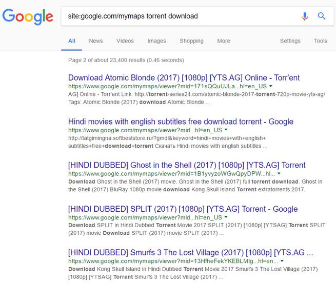 google maps utilizado para difundir contenido pirata