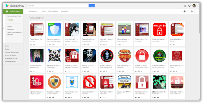 Apps basura WannaCry Play Store Android