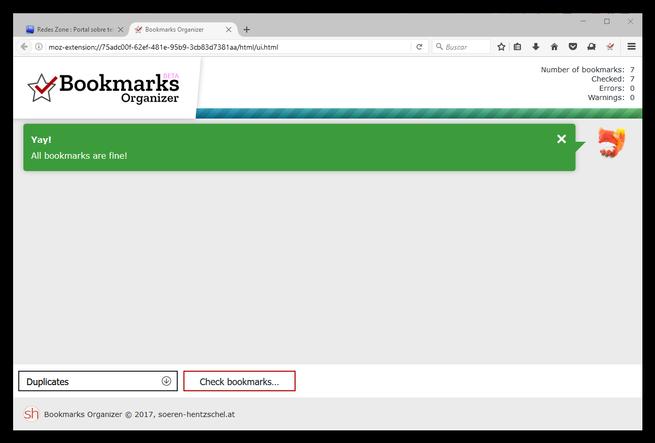 Bookmarks Organizer - Marcadores limpios