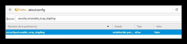 Desactivar Conexión segura fallida Firefox