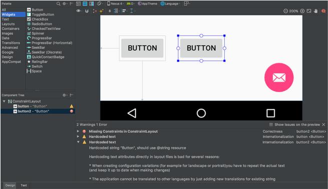 Mejoras diseño interfaz Android Studio 3.0