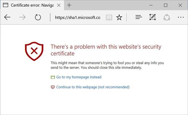 Microsoft Edge SHA1